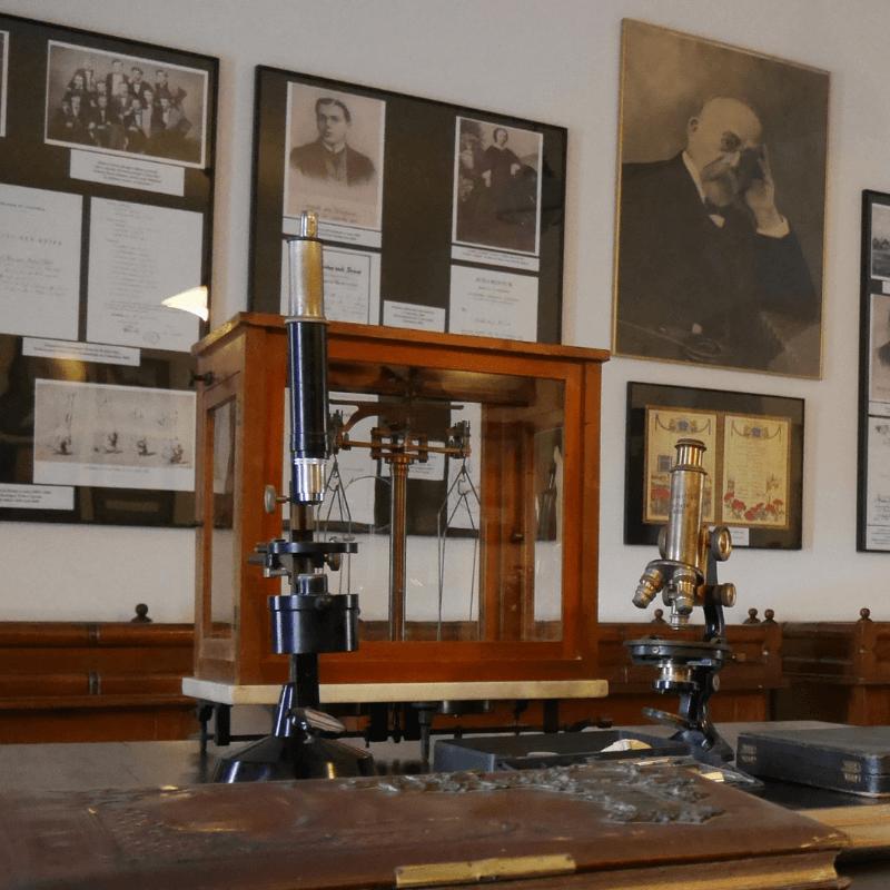 Muzeum dr. Roberta Kocha. Fragment ekspozycji stałej poświęconej życiu i pracy badawczej naukowca.